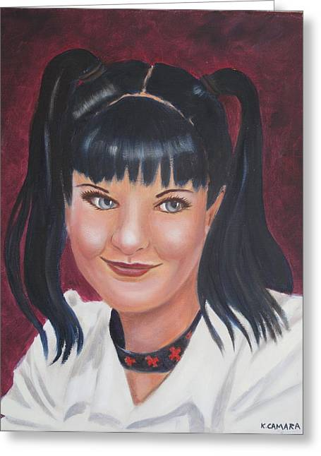 Abby Of Ncis Greeting Card