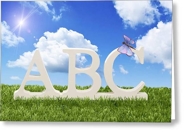 ABC Greeting Card by Amanda Elwell