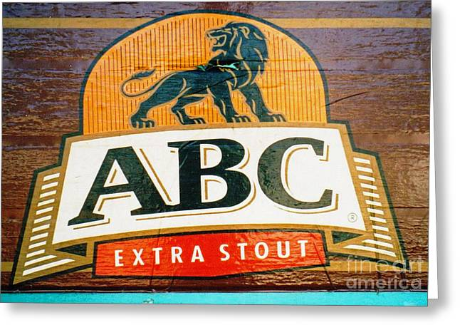 Greeting Card featuring the photograph Abc Stout by Ethna Gillespie