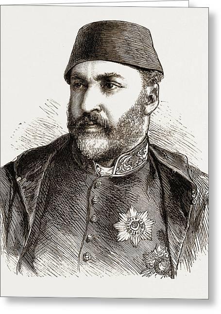 Abd-ul-aziz, The Late Sultan Of Turkey Greeting Card