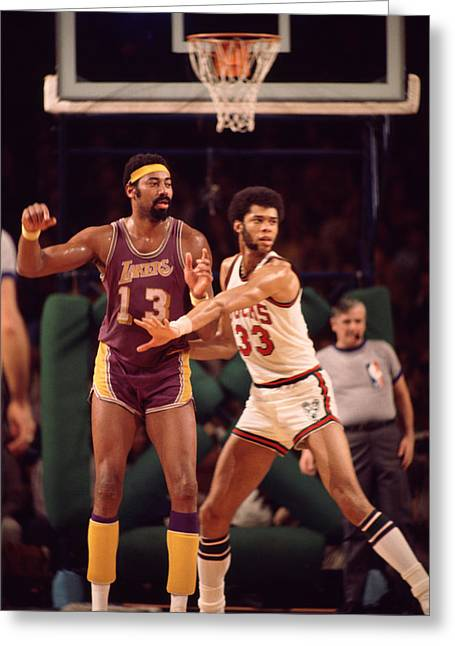 Abdul Jabbar Defends Wilt Chamberlain Greeting Card