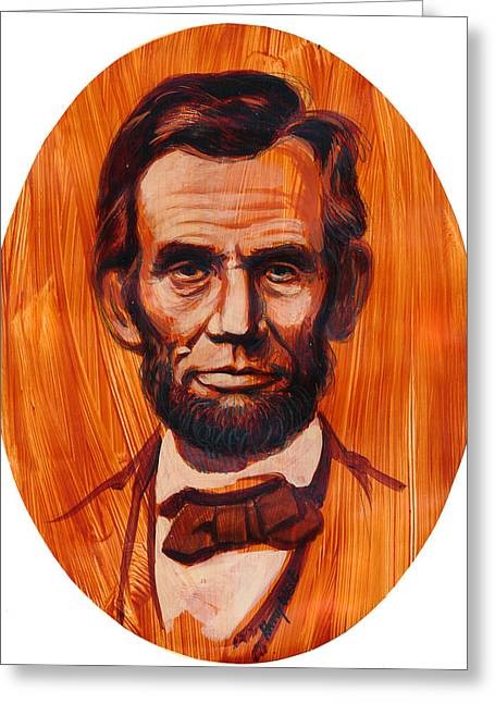 Abe Lincoln  Greeting Card by Harry West