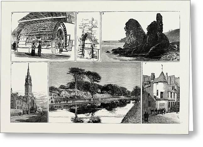 Aberdeen 1. Water-wheel At The Grandhol Tweed Mills. 2 Greeting Card