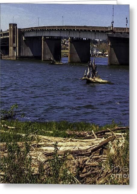 Aberdeen Bascule Bridge Greeting Card by Jean OKeeffe Macro Abundance Art