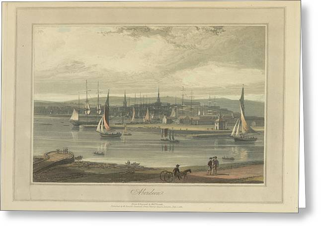 Aberdeen City And Port Greeting Card by British Library