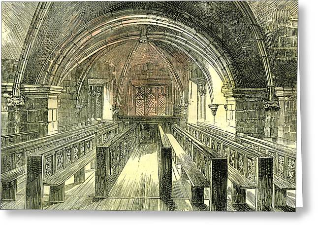 Aberdeen East Church The Crypt 1885 Uk Greeting Card by English School