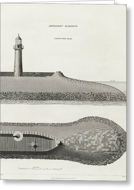 Aberdeen Harbour Greeting Card by British Library