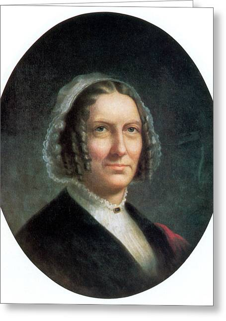 Abigail Fillmore, First Lady Greeting Card by Science Source