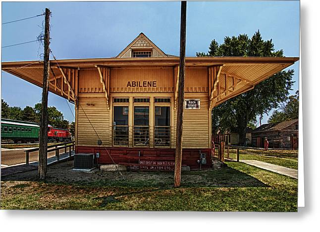 Abilene Station Greeting Card by Mary Jo Allen