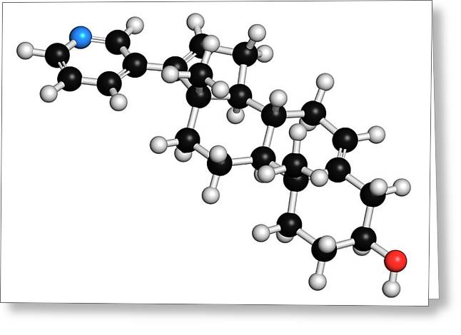 Abiraterone Prostate Cancer Drug Molecule Greeting Card by Molekuul