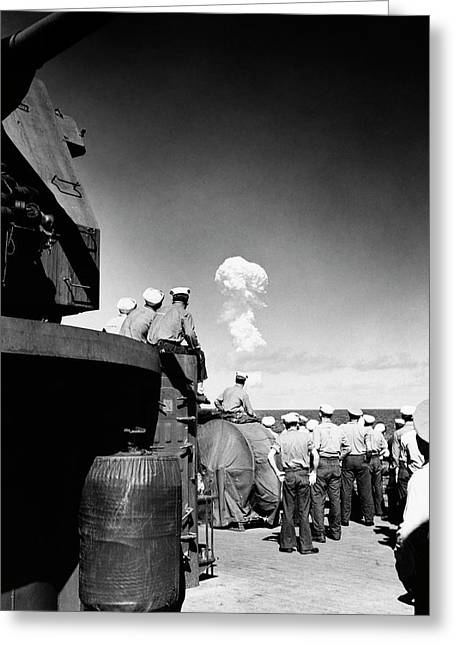 Able Day Atom Bomb Test Greeting Card by Us Navy