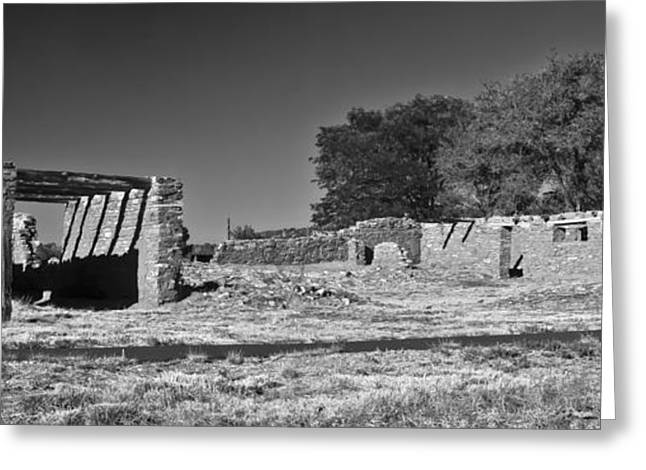 Abo Ruins 4 In Bw Greeting Card by Don Durante Jr