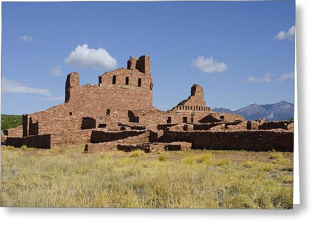 Abo Ruins Of Salinas Pueblo Missions National Monument Greeting Card by Shelley Dennis