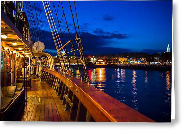 Aboard Peacemaker Greeting Card by James  Meyer