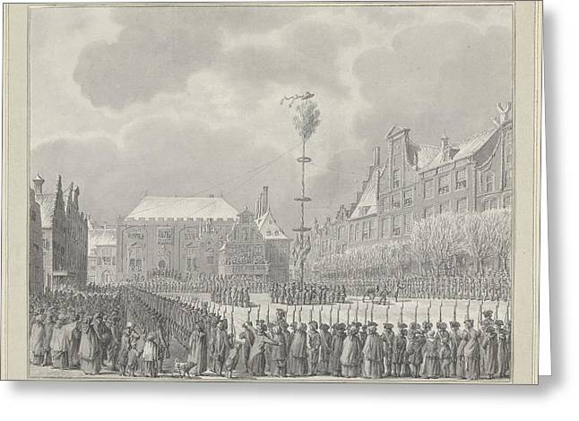 Abolition Of Stadhouderschap On The Grote Markt In Haarlem Greeting Card by Quint Lox