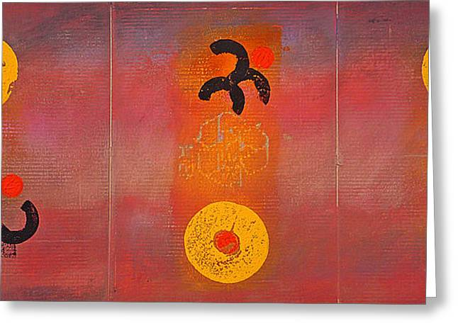 Aboriginal Dream Greeting Card by Charles Stuart