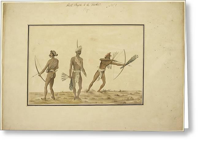 Aboriginals Of Orissa Greeting Card by British Library