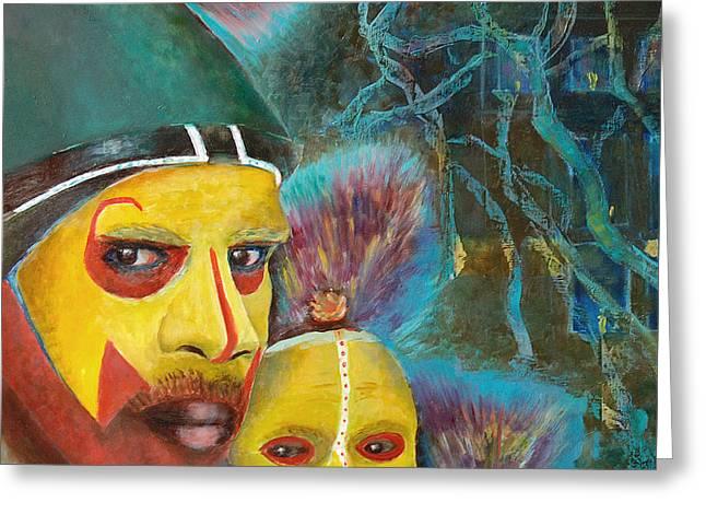 Australian Aboriginal Art. Aborigine Greeting Card by Magdalena Walulik