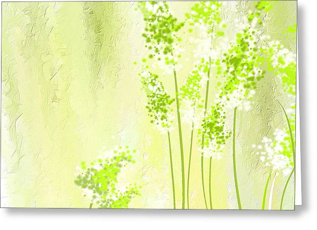 About Spring Greeting Card by Lourry Legarde