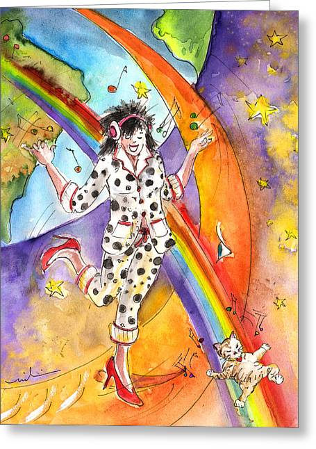 About Women And Girls 15 Bis Greeting Card by Miki De Goodaboom