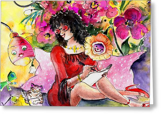 About Women And Girls 16 Bis Greeting Card by Miki De Goodaboom