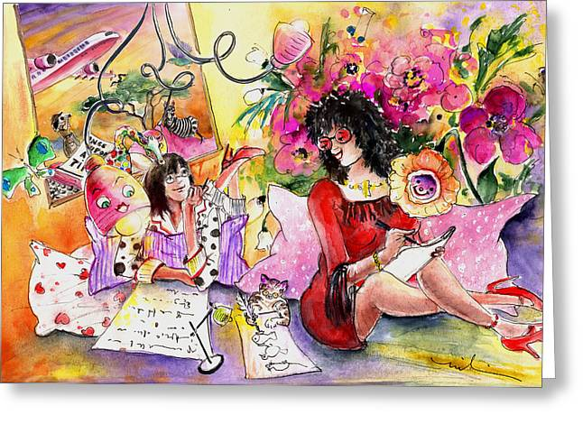 About Women And Girls 16 Greeting Card by Miki De Goodaboom