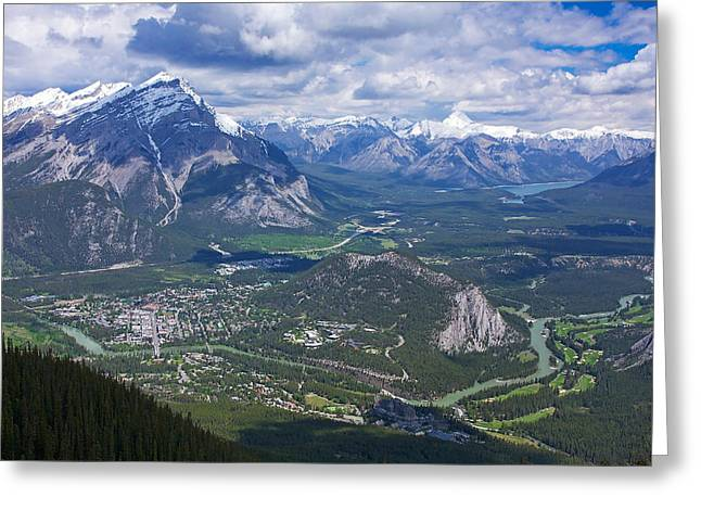 Above Banff Greeting Card by Stuart Litoff