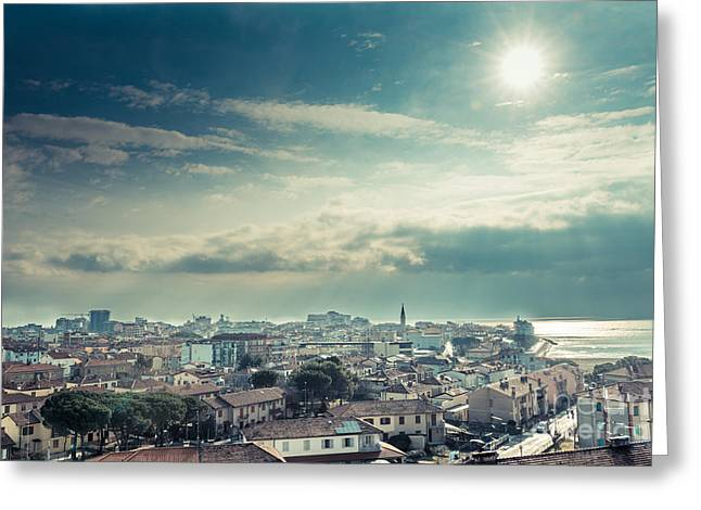 Above Grado Greeting Card by Hannes Cmarits