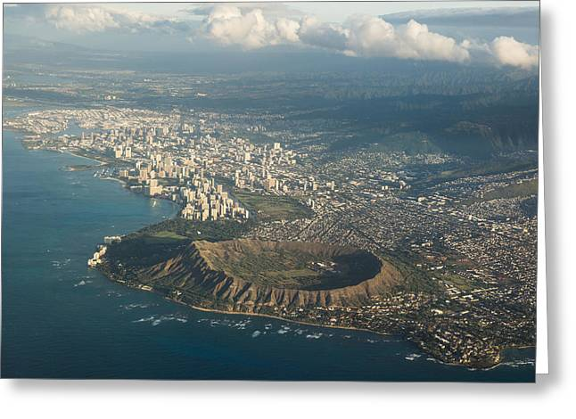 Above Hawaii Greeting Card