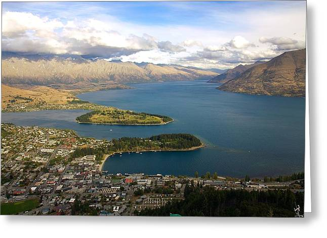Above Queenstown Greeting Card by Stuart Litoff