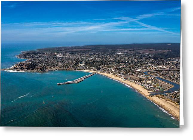 Above Santa Cruz California Looking West Greeting Card by Randy Straka