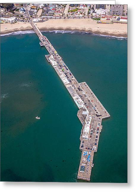Above Santa Cruz Wharf Greeting Card by Randy Straka