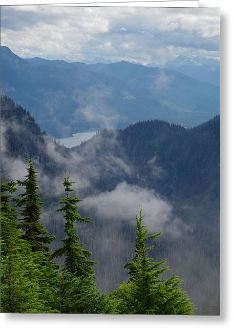 Above The Cloud Greeting Card