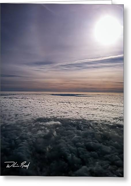 Above The Clouds 2 Greeting Card by William Reek