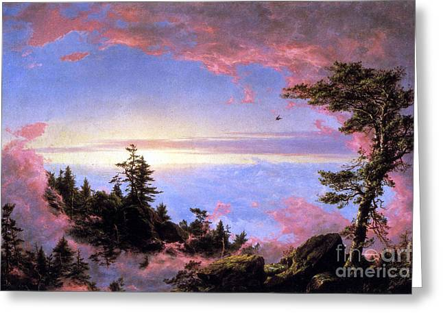 Above The Clouds At Sunrise By Frederick Edwin Church Greeting Card