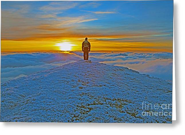 Above The Clouds Greeting Card by Lynne Sutherland