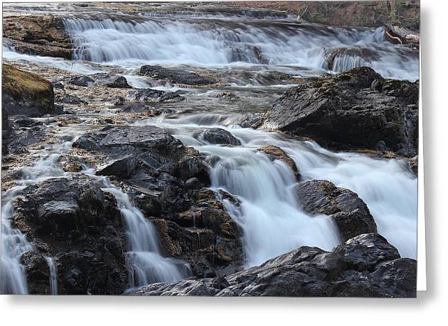 Above The Falls Greeting Card by Randy Hall