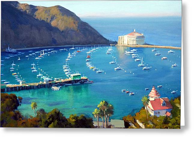 Above The Harbor Greeting Card