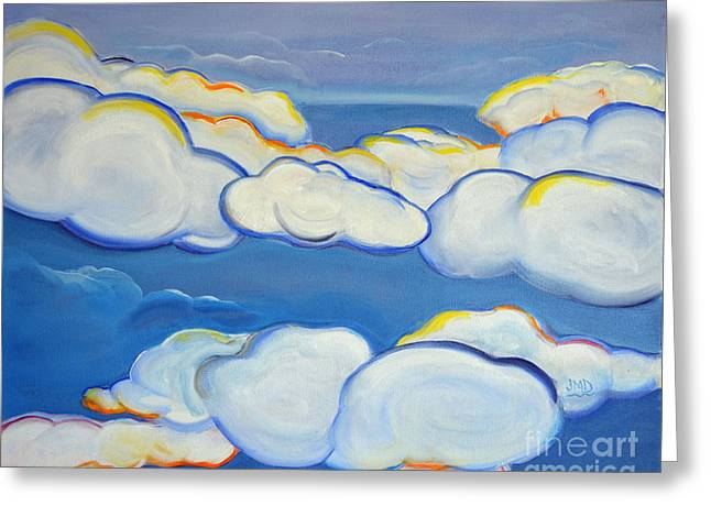 Above The Horizon Greeting Card by Janice DeAngelis