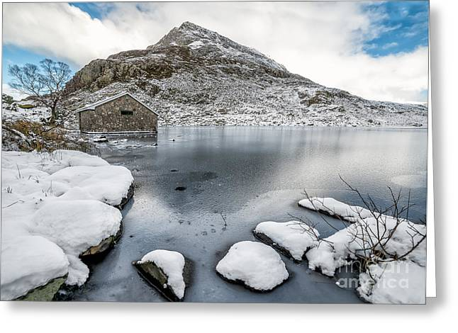 Above The Ice Greeting Card by Adrian Evans