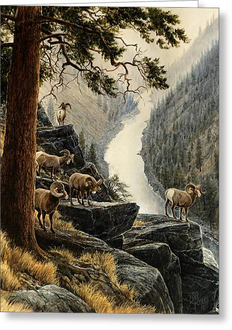 Above The River Greeting Card