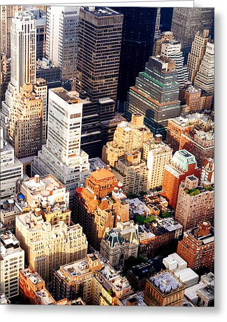 Above The Skyscrapers - New York City Greeting Card by Vivienne Gucwa