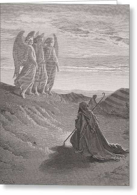 Abraham And The Three Angels Greeting Card