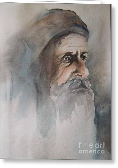 Abraham Greeting Card by Annemeet Hasidi- van der Leij