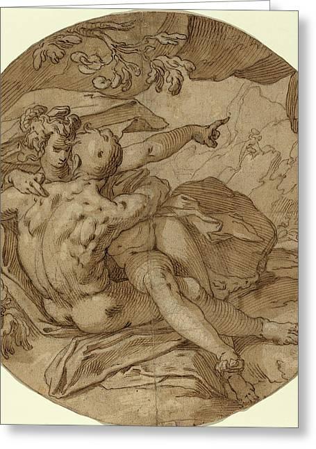 Abraham Bloemaert Dutch, 1564 - 1651, Acis And Galatea Greeting Card by Quint Lox