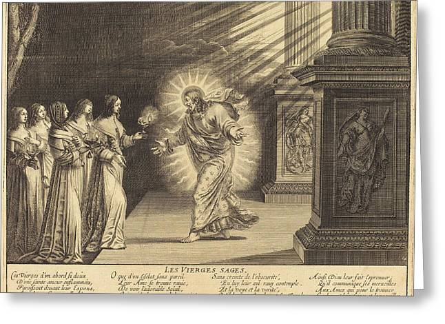 Abraham Bosse French, 1602 - 1676, The Wise Virgins Greeting Card by Quint Lox