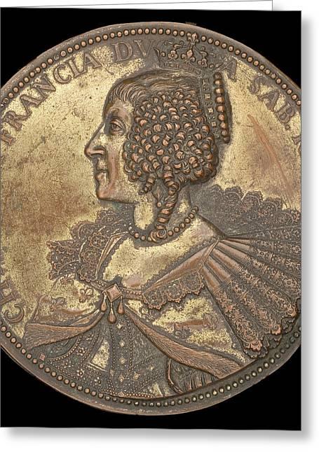 Abraham Dupré, Christine Of France, 1606-1663, Duchess Greeting Card