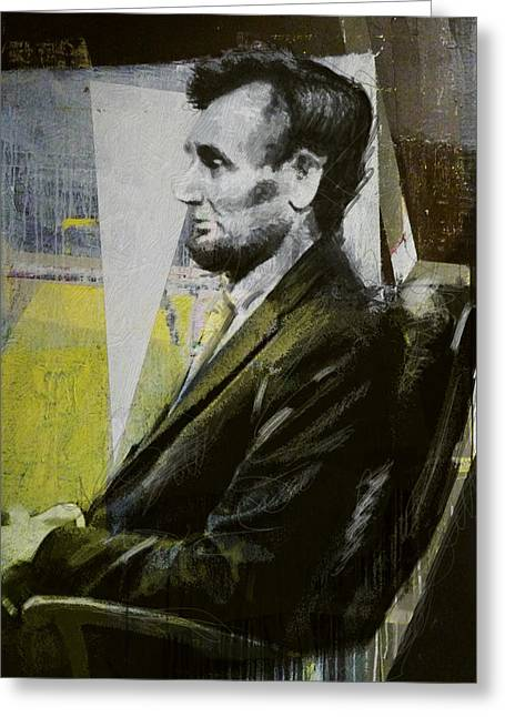 Abraham Lincoln 03 Greeting Card by Corporate Art Task Force