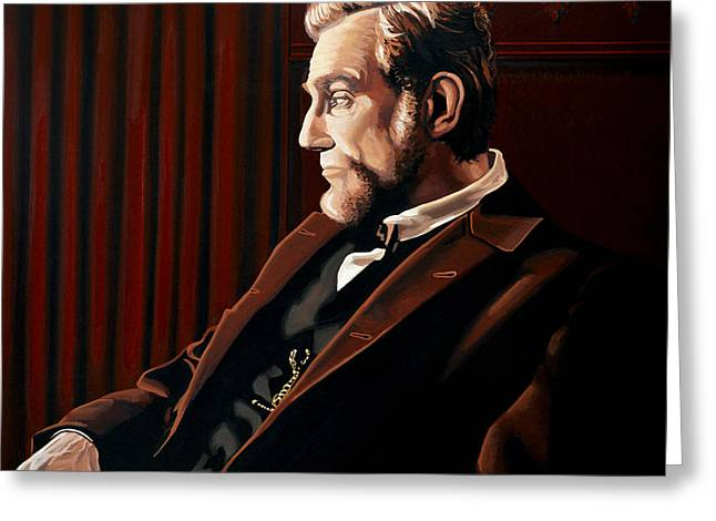 Abraham Lincoln By Daniel Day-lewis Greeting Card