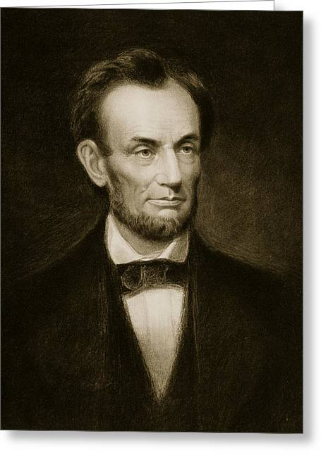 Abraham Lincoln Greeting Card by Francis Bicknell Carpenter
